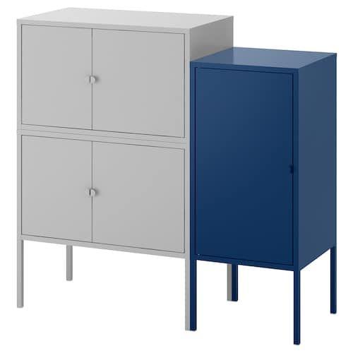 Bror Scaffale E Mobili Nero 85x40x110 Cm Idee Ikea Mobili