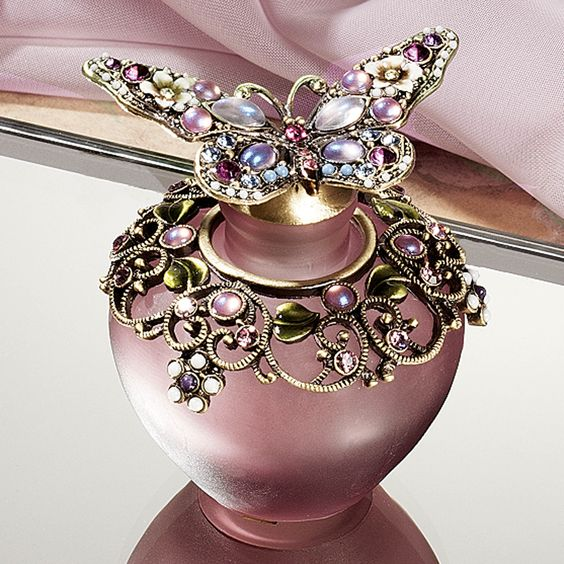 Purple Butterfly Perfume Bottle: