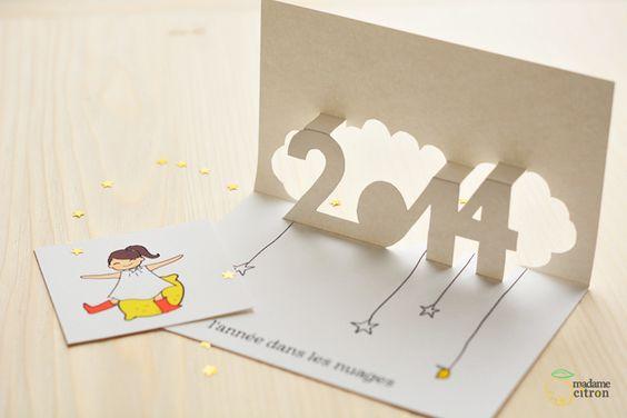 Diy Une Carte De Voeux Pop Up Imprimer Pour 2014