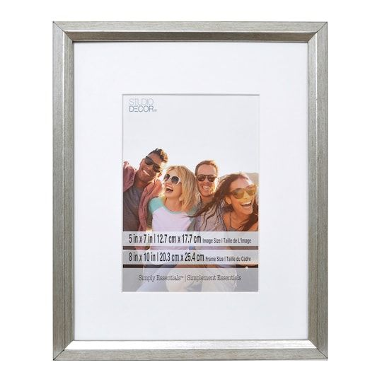 Silver Foil Frame With Mat Simply Essentials By Studio Decor 5 X 7 Michaels Decor Frame Silver