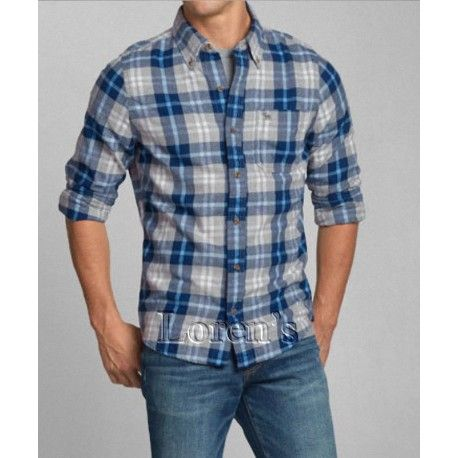 Camisa Abercrombie Rocky Falls A Cuadros Original En Oferta Hombres Abercrombie Camisas De Moda Para Hombres Camisas