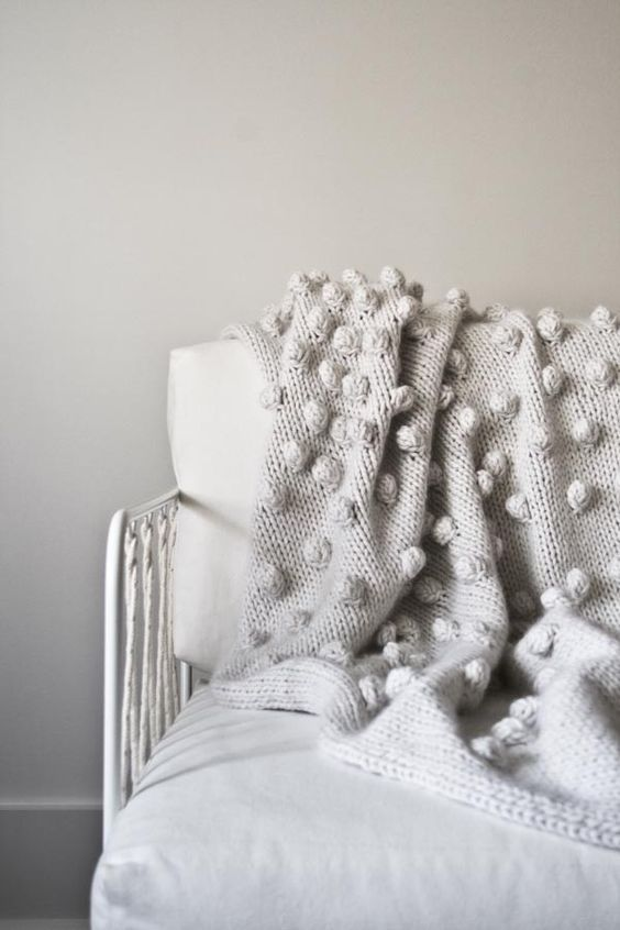 Knitting Pattern For Bobble Blanket : Falling Bobbles Blanket Purl Soho Purl Soho-Knitting Pinterest Purl S...