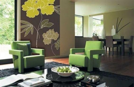 moderne wohnzimmer tapeten frische blumenmuster moderne tapete moderne ...