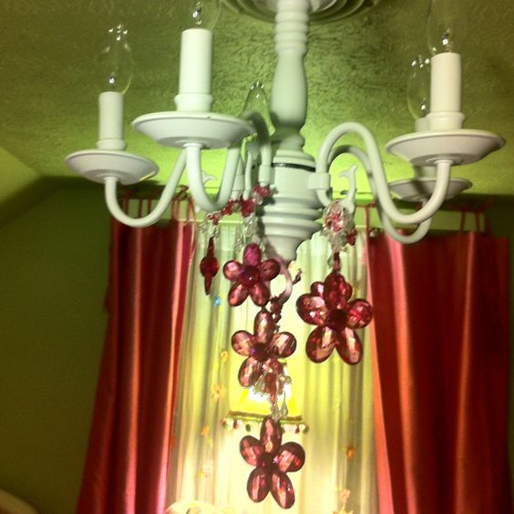 Chandelier makeover Brass and Girl rooms – Chandelier Makeover Ideas