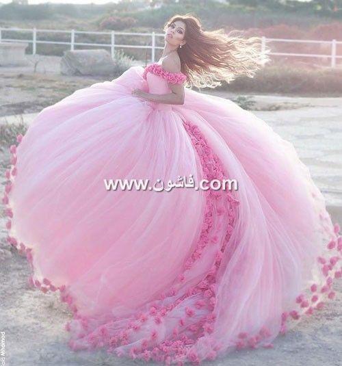 فستان خطوبتك باللون الوردي صور فساتين خطوبة منفوشة وردي 2018 Dresses Tulle Tulle Skirt
