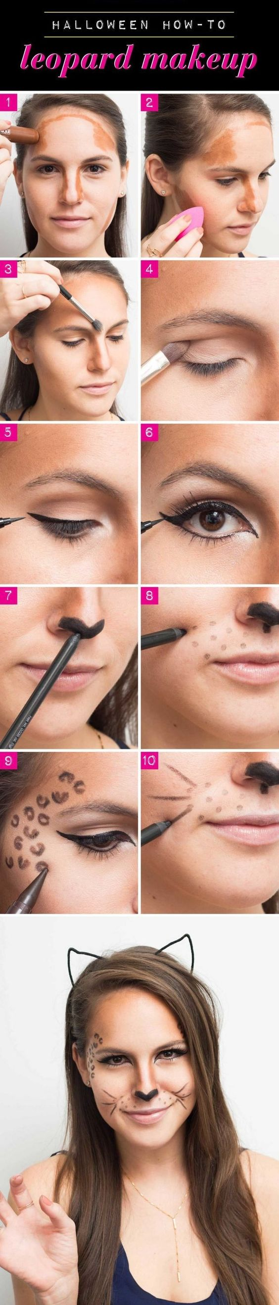 """Halloween makeup made easy! This tutorial is perfectly simple for anyone wanting to add a little """"cattitude"""" to their costume!"""