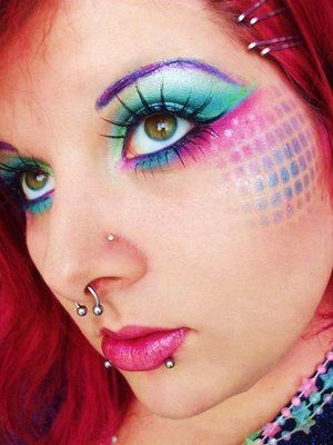 fishnet stencil makeup