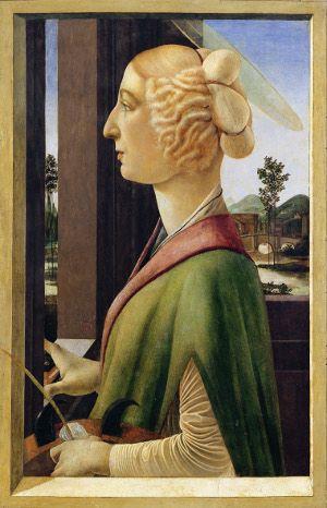 Sandro Botticelli: Bildnis einer jungen Frau im Profil, um 1475 (Lindenau-Museum Altenburg)