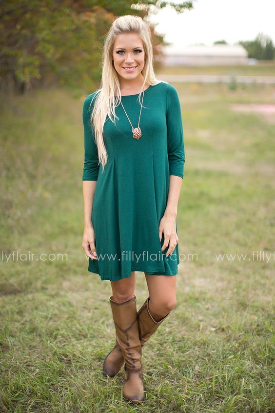 Stitch Fix: I love the dress. Already have brown boots.