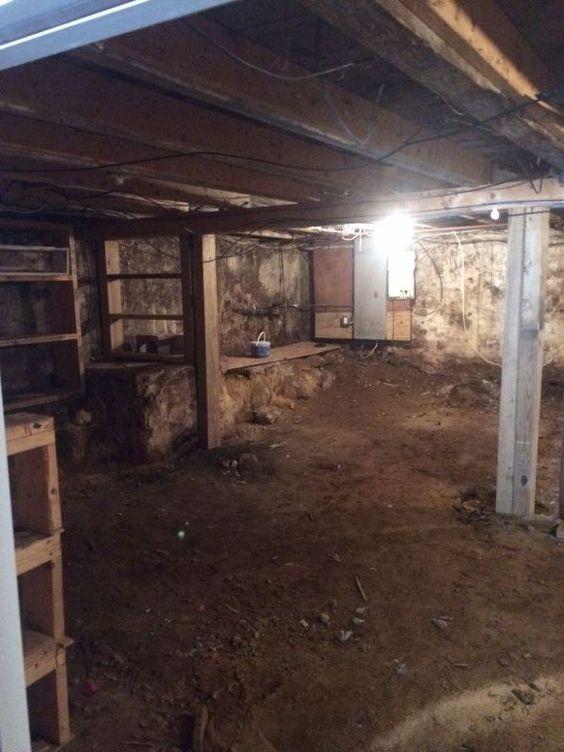 how to transform a damp dark basement with a dirt floor basement