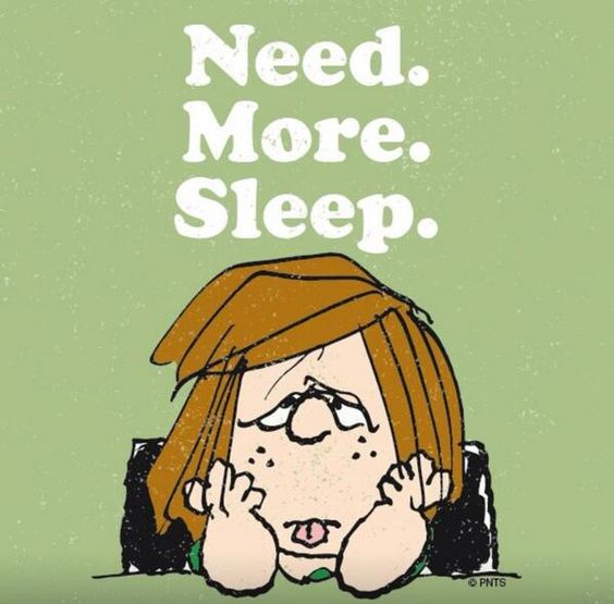 Peppermint Patty--Need more sleep.:
