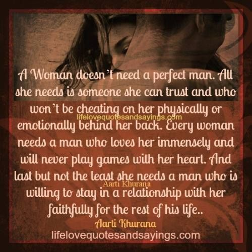 every woman needs her man