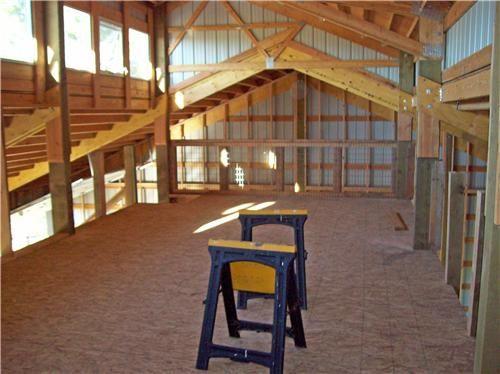 Pole barn with living quarters plans custom shop with for Custom garages with living quarters