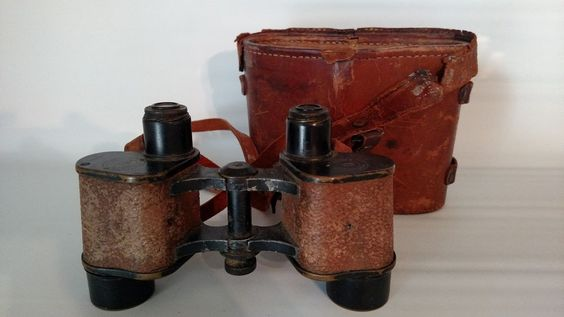 Binoculars Officer US Army Signal Corps Bauch & Lomb Case Vintage