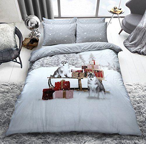 C2s Xmas Special Polycotton Cotton Rich Duvet Cover Sets With Pillow Cases Bedding Sets Double Winter H Christmas Duvet Christmas Duvet Cover Pillow Case Bed