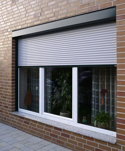 Concealed external roller shutters - #exteriorgoals Exterior Window rolling shutter. This would be awesome for weather and security protection.