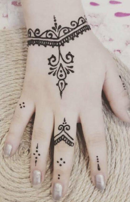 Simple Pattern For Henna Tattoo Design Girlytattoo Girlytatto