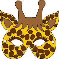 17 best images about karneval masken basteln giraffen. Black Bedroom Furniture Sets. Home Design Ideas