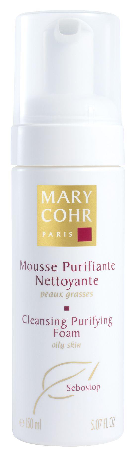 MOUSSE PURIFANTE NETTOYANTE (150ml)  Der besonders sanfte, aber gründliche Reinigungsschaum erhält den natürlichen Säureschutzmantel der Haut. Er reagiert nicht alkalisch, besteht zu 100 % aus natürlichen Wirkstoffen, ist mit einem Antikalk-Wirkstoff angereichert. Die Haut fühlt sich frisch und angenehm an. Das Mousse Purifiante Nettoyante von Mary Cohr enthält besondere Tenside und ist alkalifrei…