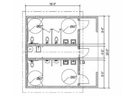 Public Bathroom Floor Plan Thefloors Co