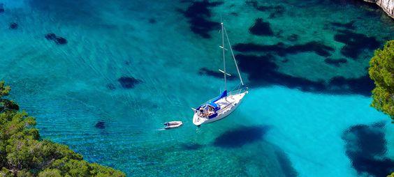 En eaux turquoises....
