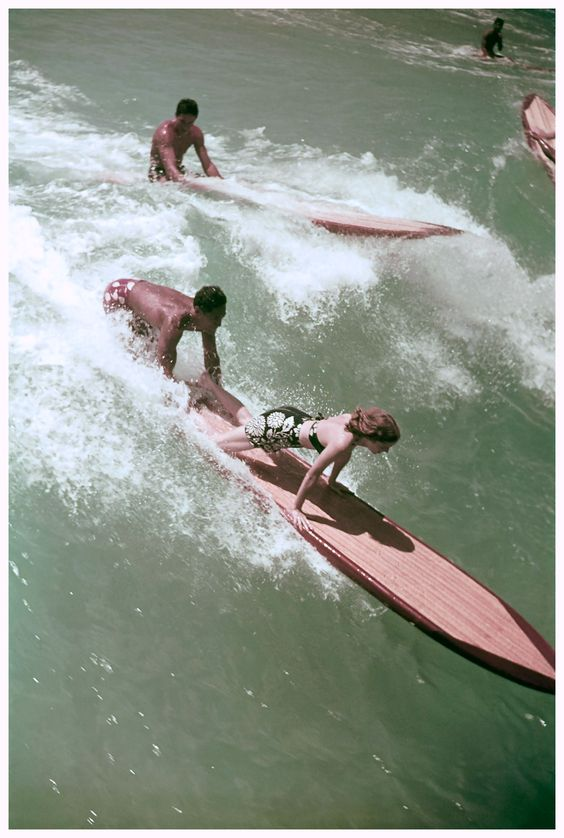Surf's up! A cover of Vogue US shot in Hawaii, 1938 Toni Frissell