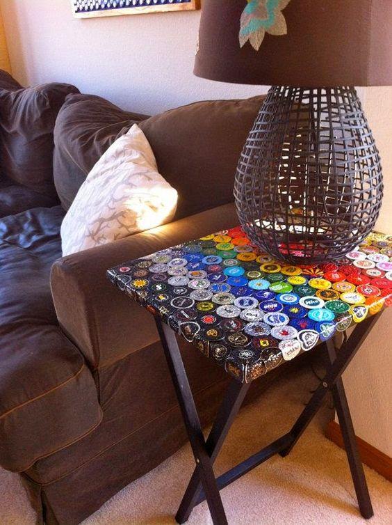 Manualidades ingeniosas con tapas de botellas : cositasconmesh