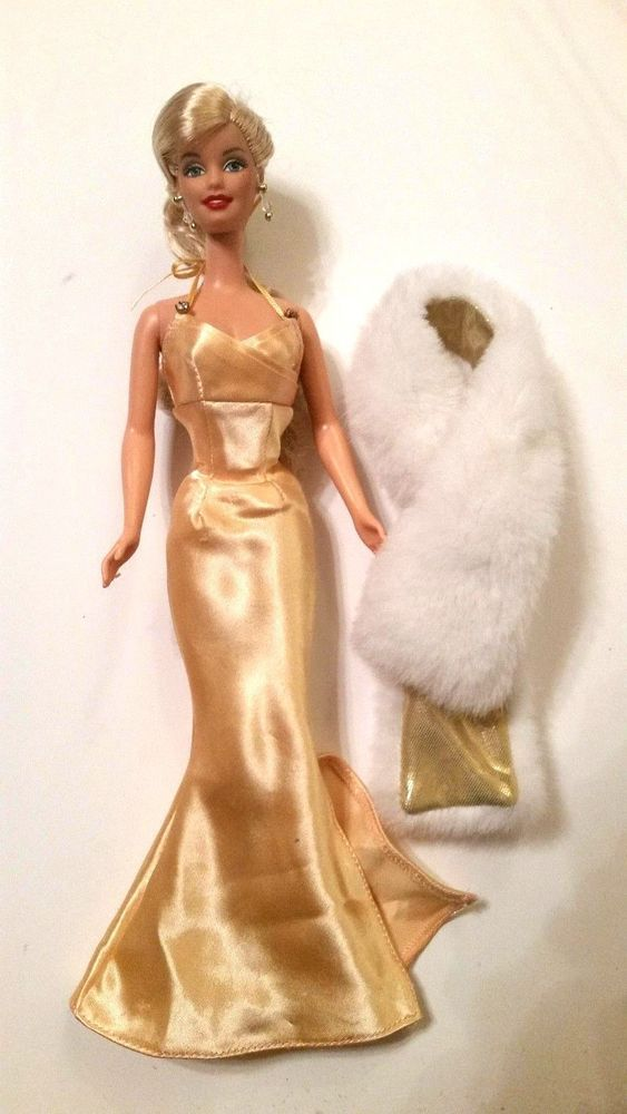 Barbie Glitter /& Black Sateen Bodice Mermaid Style Gown ~ Unboxed ~Free U.S Ship