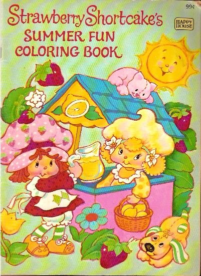 Strawberry Shortcake Coloring Book - Summer Time @ Toy-Addict.com Free printable coloring pages