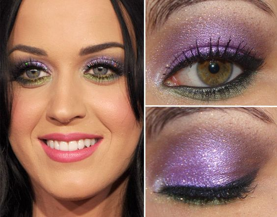 Katy Perry's eye makeup, really want to start trying things as colourful as this