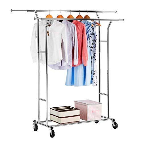 Nanle Double Rail Garment Rack Commercial Grade Adjustable