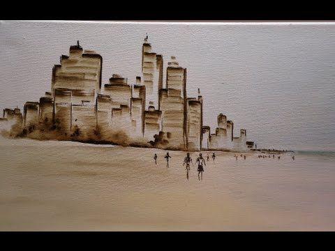 Como pintar cuadro en acrilico - En la bahia  Claudia Kunze