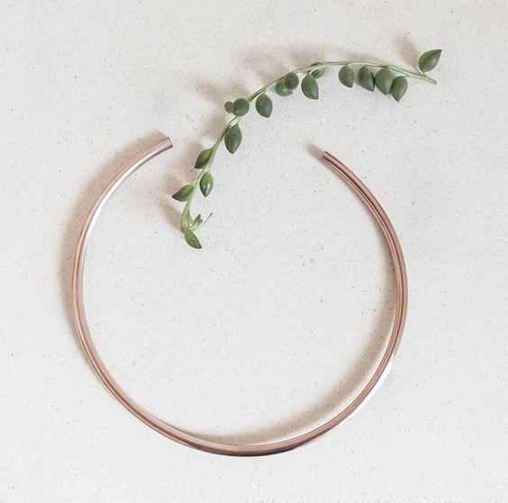 Eleanor Amoroso / Copper Arc Necklace #eleanoramorosojewellery
