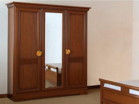Armoire Avec Miroir Laurel L178 Cm 3 Portes Decor Merisier In 2020 Furniture Home Decor Armoire