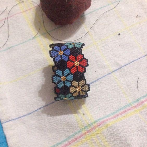 Miyuki Beads Bracelet Sead Beads Peyote Stitch: