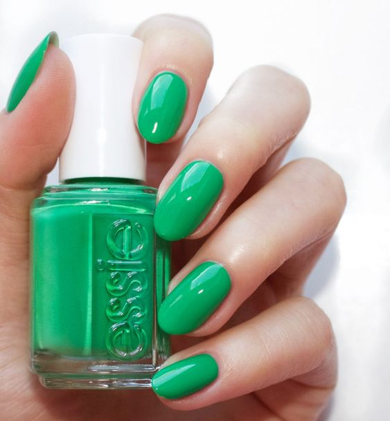 essie SPRING 2017 on the roadie\' a vibrant kelly green | Nails ...