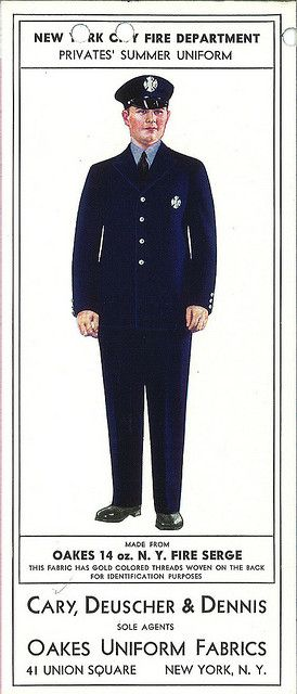 Police uniform advertisement, 1932