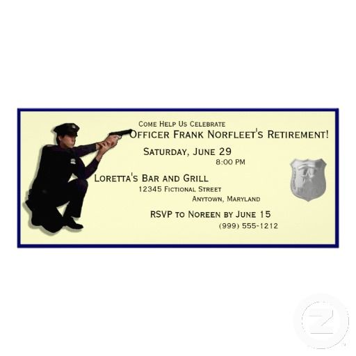 Police Officer Retirement Party Invitations zazzle police – Zazzle Party Invitations