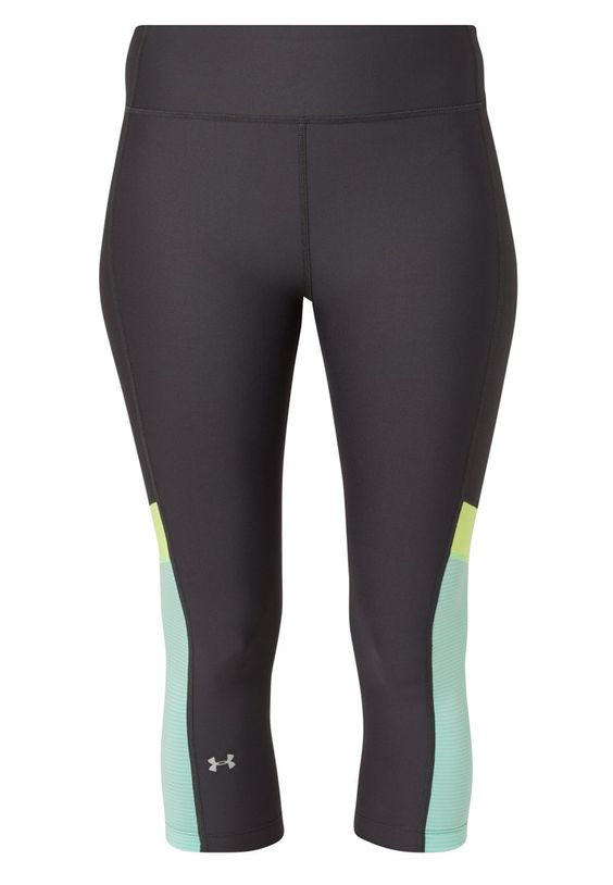 Under Armour HEATGEAR ALPHA NOVELTY - Tights - phantom gray/crystal/magnetic silver - Zalando.at