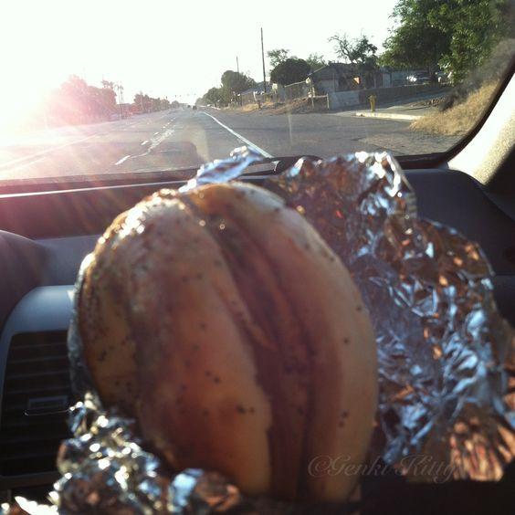 Vegan breakfast sandwich for road trips