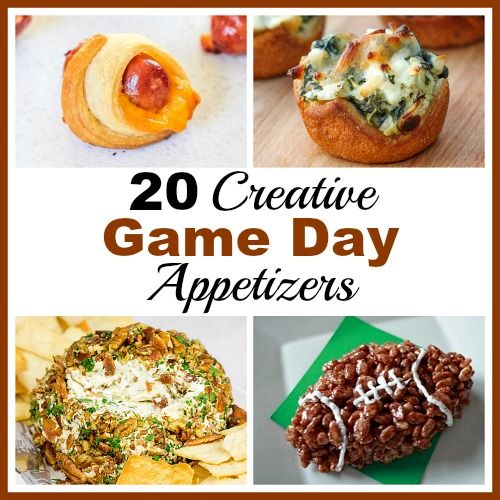 20 Creative and Easy To Make Game Day Appetizer Ideas- Your next sports gathering will be great if you serve a delicious game day appetizer! These would be perfect for a Super Bowl watching party!   recipe, food, quick recipe, easy recipe, football, soccer