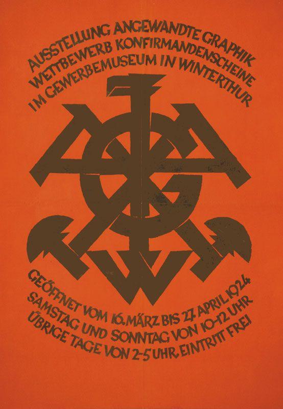 Anonym, Ausstellung angewandte Graphik - Gewerbemuseum Winterthur, 1924