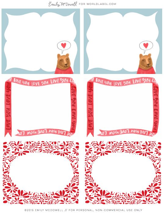 Free adorable Kids Printable labels by @lia griffith Be Mine - large label template