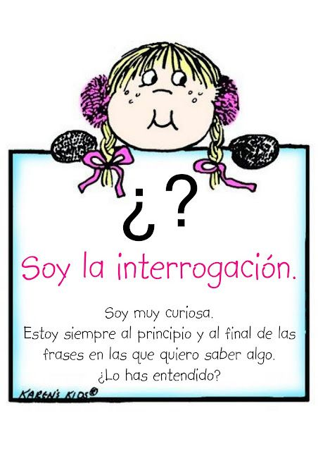 Carteles de signos de puntuación - en español.