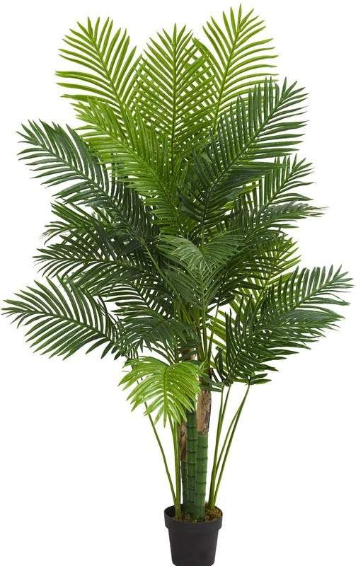 63 5 Artificial Palm Tree In Planter Artificial Tree Faux Tree Indoor Palms