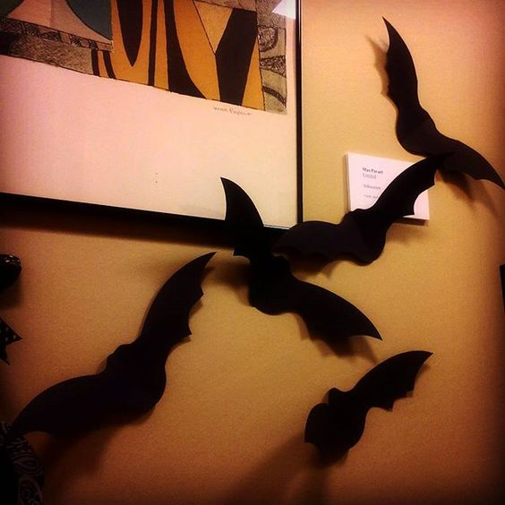 Would it be weird to cover my whole office with paper bats?  #spooky #halloween #diy