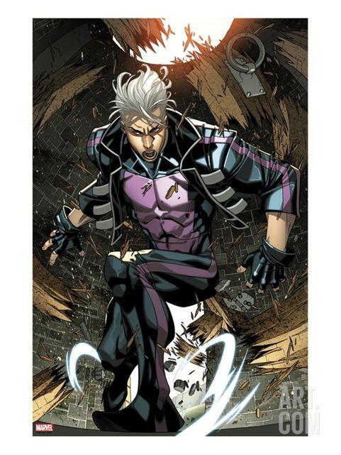 Ultimate Comics X-Men No.7: Quicksilver Crouching   Comic ...