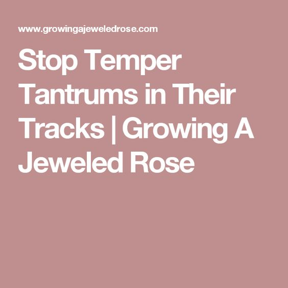 Stop Temper Tantrums in Their Tracks | Growing A Jeweled Rose