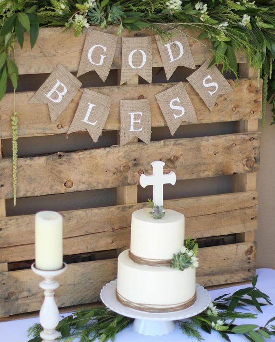 Dieu bénisse bannière Première Communion bannière bannière | Etsy