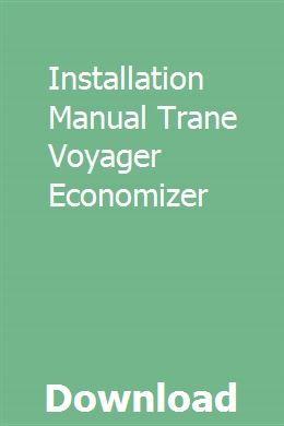 voyager by trane service manual